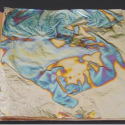 Cuivre Oxydé Bleu NS 140 X 140 mm - Le carnet de 25 feuilles